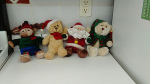Christmas plush figures. Set of 4. for Sale in Tamarac, FL