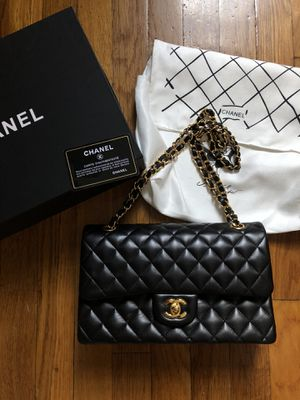 Chanel black flap bag for Sale in New York, NY