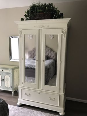 Lexington off white wooden armoire for Sale in Germantown, MD