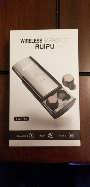 Bluetooth Wireless Earbuds with Charging Case for Sale in Des Plaines, IL