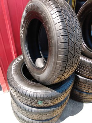 Set 225/70/16 Bridgestone Dueler H/T used $260 Includes installation and balance for Sale in Buena Park, CA