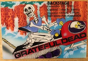 """SIGNED Grateful Dead Backstage Pass 13.5"""" x 9"""" Enlarged Print 1990' REONEGRO for Sale in Phoenix, AZ"""