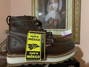 Zapato de trabajo echo en mexico 100% piel medidas del 6 al 12 for Sale in Riverside, CA