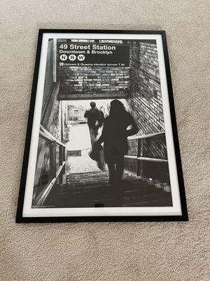 Framed black and white New York photo for Sale in Las Vegas, NV