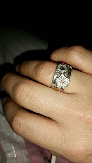 crystal embellished silver ring for Sale in Alexandria, VA