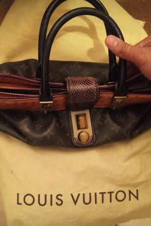 LOUIS VUITTON Python & Ostrich-Accented Monogram Waltz Oskar Bag for Sale in Corona, CA
