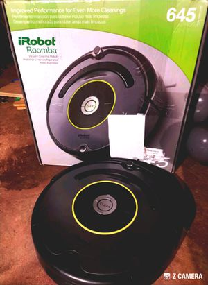 iRobot Roomba 645 - robot vacuum. Uses iadapt. Works on carpet and hard flooring. Auto return. Dirt detect. Xlife extended life battery. for Sale in Cypress, TX