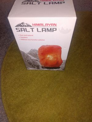 Small salt lamp 7 inch for Sale in Alexandria, VA