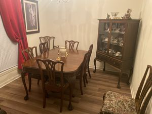 Antique table and chairs all wood for Sale in Mount Holly, NJ