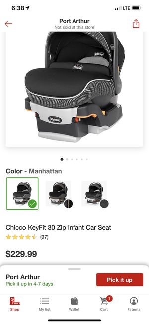 In very good condition Chico keyfit 30 zip infant car seat for Sale in Port Arthur, TX