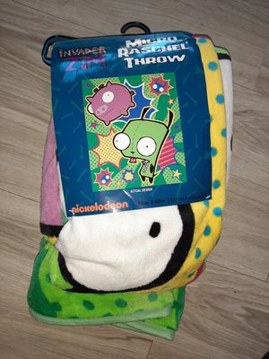 HOT TOPIC gir Zim invaders SOFT FUR MICRO PLUSH THROW BLANKET for Sale in Manchester, NH