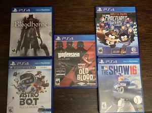 PS4 -Video Games, 5 Total, $10 Each for Sale in La Mesa, CA