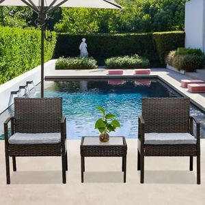 SHIPPING ONLY 3 Piece Outdoor Patio Furniture Set w/Chairs and Coffee Table for Sale in Las Vegas, NV