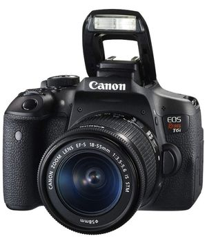 Canon Eos Rebel T6i 750D T 6i Dslr Camera Black for Sale in Miami, FL