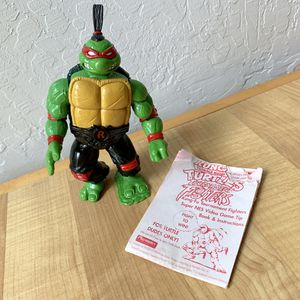 Vintage 1994 Teenage Mutant Ninja Turtles Tournament Fighters Kung-Fu Raph, Raphael TMNT Action Figure Collectable Toy with Booklet for Sale in Elizabethtown, PA
