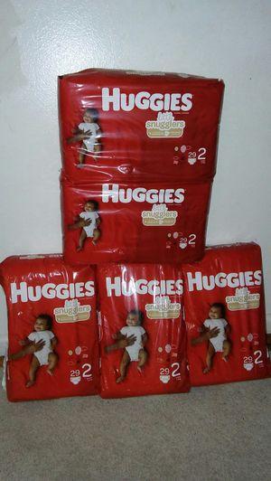 5 jumbo pack huggies little snugglers #2 for Sale in Glenarden, MD