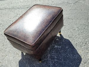 Mid-Century Modern Style Leather Foot Stool Ottoman for Sale in Orlando, FL