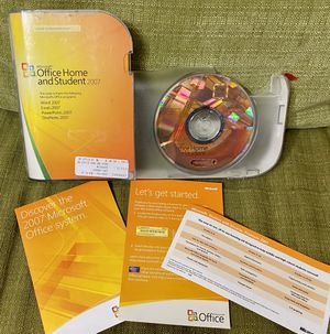 MS MICROSOFT OFFICE HOME AND STUDENT 2007 WITH ORIGINAL CASE & KEY for Sale in Glendale, AZ