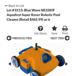Robotic Pool Cleaner for Sale in Gilbert, AZ