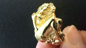 Men's size 10 gold lady ring gold filled 925 silver ring for Sale in Lombard, IL