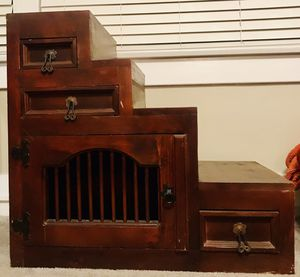 Antique Vintage Staircase Tansu Elmwood Cabinet in Japanese Style with Drawers and Chest for Sale in San Diego, CA