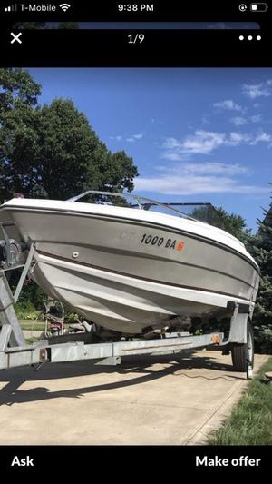 """1985 Galaxy open boat 17'6"""" white & grey for Sale in Springfield, MA"""