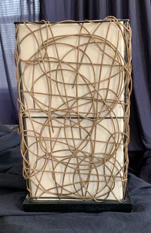 Burlap Rattan Uplight Contemporary lamp for Sale in Falls Church, VA