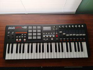 Akai Mpk 49 midi keyboard for Sale in Corning, NY