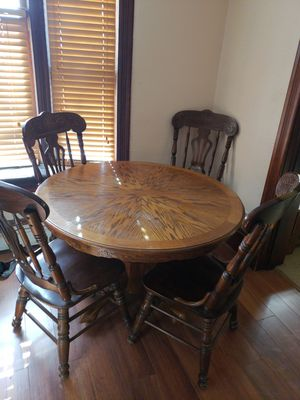 dining room table and 4 chairs...100 or trade for a futon... for Sale in Gardner, IL