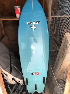 Cult retro fish surf board for Sale in Lighthouse Point, FL
