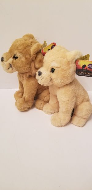 """Disney The Lion King Live ActionSimba and nala 8"""" Bean Soft Plush Sounds for Sale in Milton, PA"""