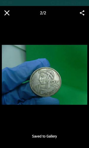 1955 guatemala 25 centavos plata! Silver. for Sale in Chicago, IL