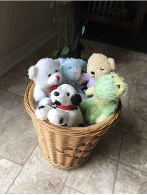 Basket of teddy bears for Sale in Raleigh, NC
