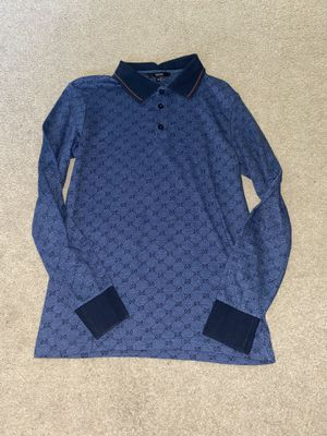 Gucci GG men's blue M polo shirt for Sale in Portland, OR