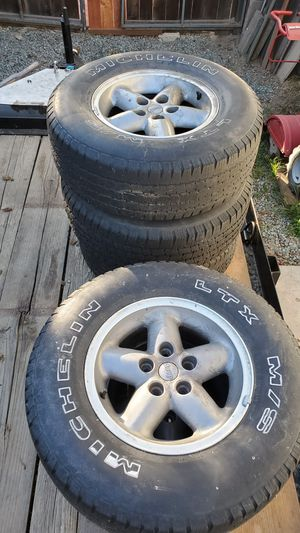 5 Jeep Tires and rims for Sale in Modesto, CA