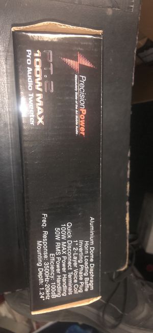 """PPI pro audio car tweeters 1 """" 2 layer voice coil new for Sale in Clearwater, FL"""