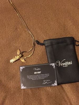 Veritas gold plated chain and Angel pendent for Sale in Dallas, TX
