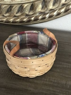 Longaberger button basket for Sale in Las Vegas, NV