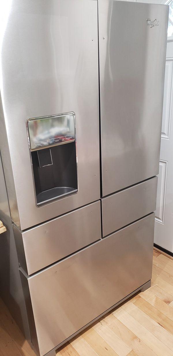 Whirlpool 25.8-cu ft 5-Door Standard-Depth French Door Refrigerator with Dual Ice Maker