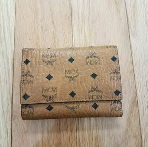 MCM THREE FOLD WALLET COGNAC for Sale in Charlottesville, VA