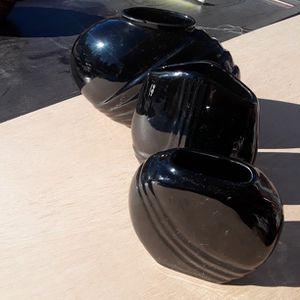 Set Flower Vase Black for Sale in Las Vegas, NV