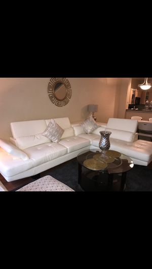 White leather couches for Sale in Plano, TX