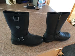 New men's Harley zippered boots sz 9 for Sale in Methuen, MA
