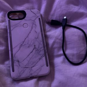 White Marble iPhone 8 Plus Lumee Case W Charger Wire for Sale in West Hollywood, CA