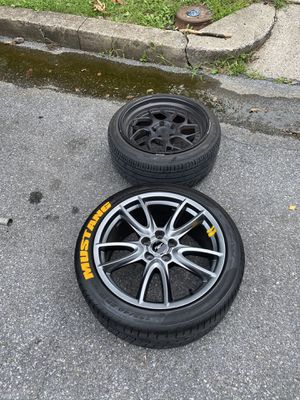 Black or size 18 5x114 silver rims size 19 5x114 for Sale in Reading, PA