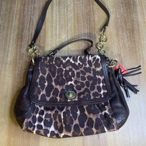 Pre Owned Coach Leopard Print Brown Purse for Sale in McLean, VA