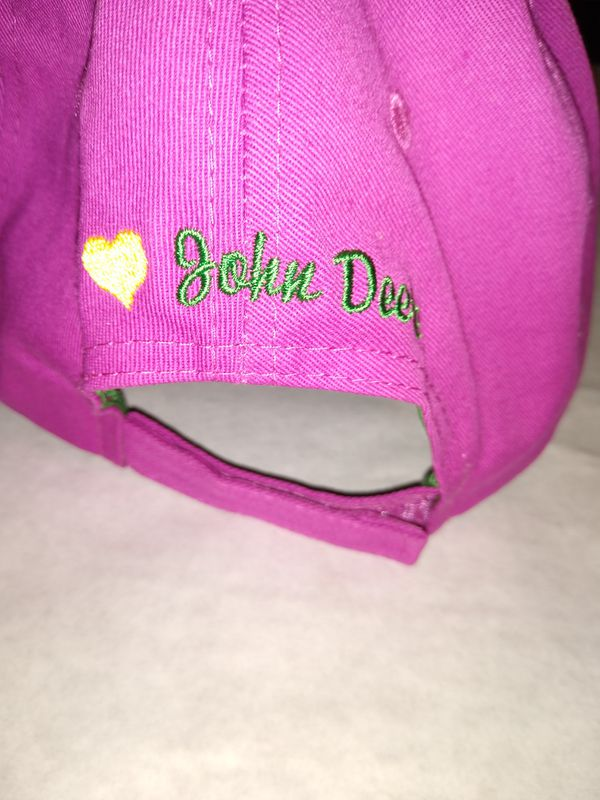 Women's Dark Pink John Deere Hat