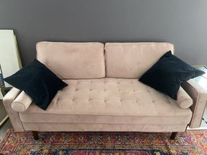 Pink Mid Century Modern Couch (Practically New) for Sale in Seattle, WA