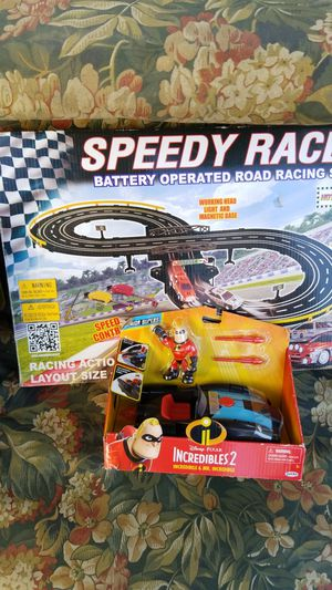 Race track and incredibles. 2 items for 10.00 for Sale in Los Angeles, CA