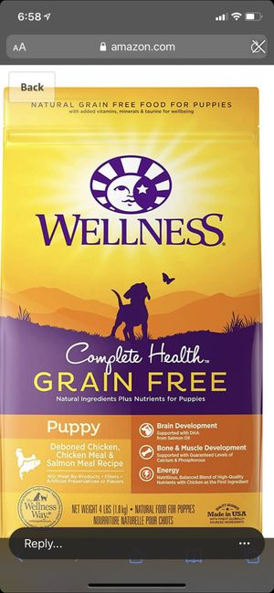 Wellness complete health grain free puppy food for Sale in Arroyo Grande, CA